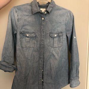 J. Crew Chambray Button-Up Shirt